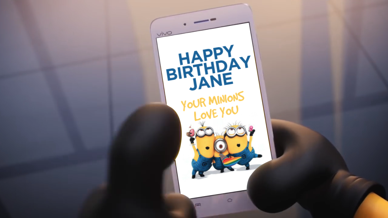 Put you name and image in a funny minions Happy Birthday bideo