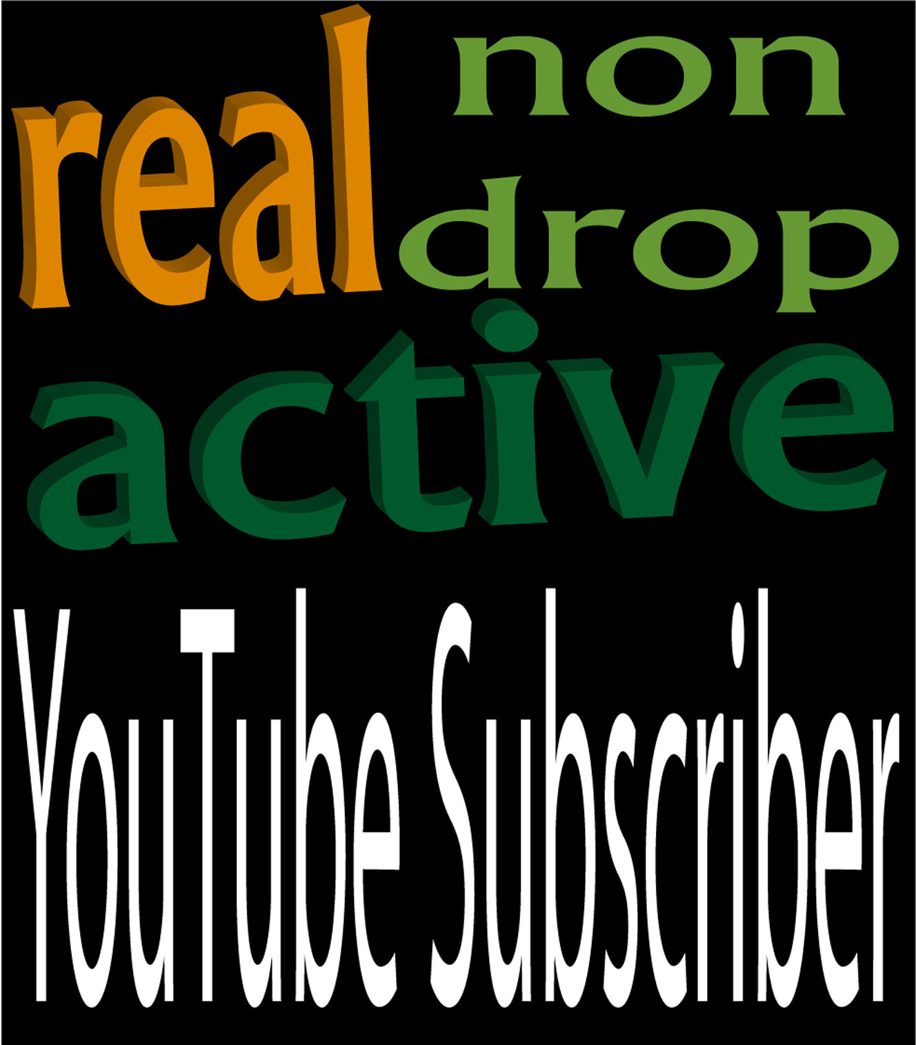 promote REAL, ACTIVE 103 YouTube subscribers
