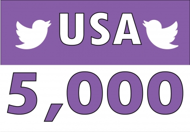 I will Add 5,000 (USA) Based Twitter Followers