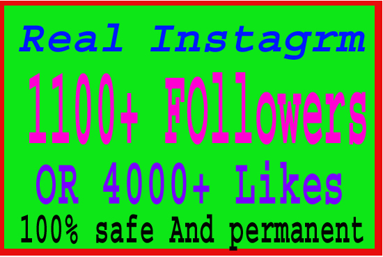 Provide 1100 Real Instagram Followers