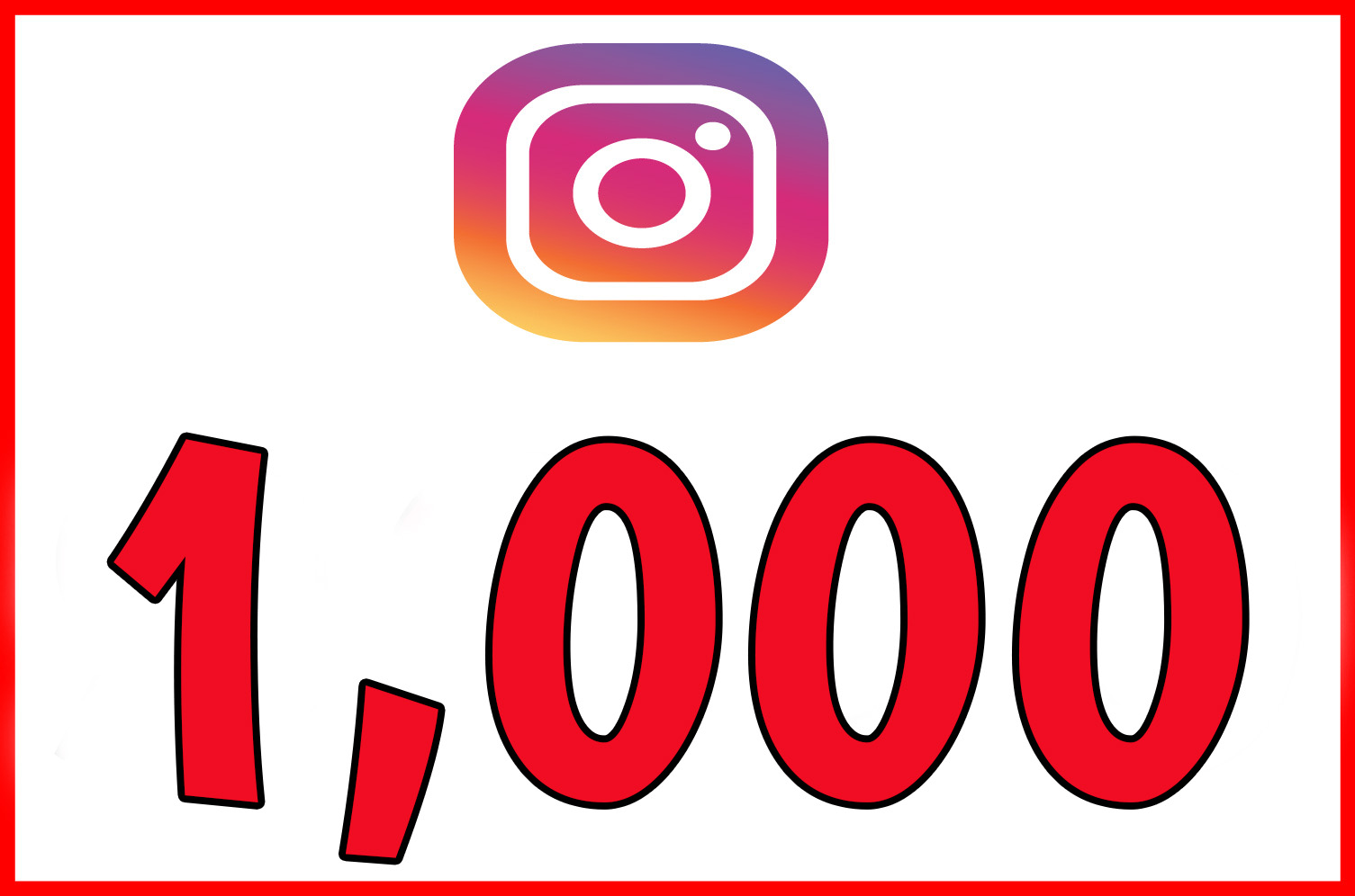 1,000 instagram followers, Instagram followers
