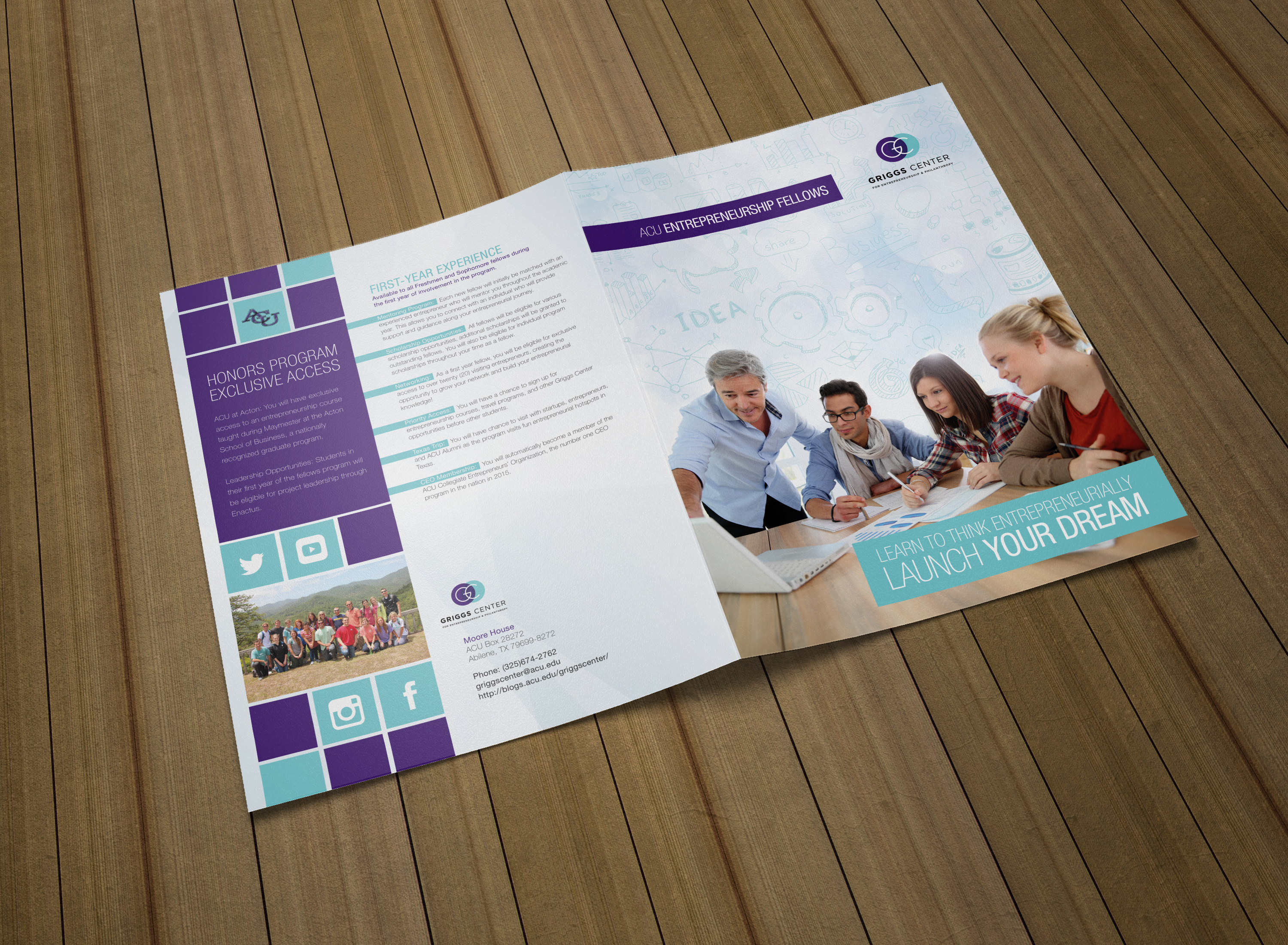 create a professional brochure or post card