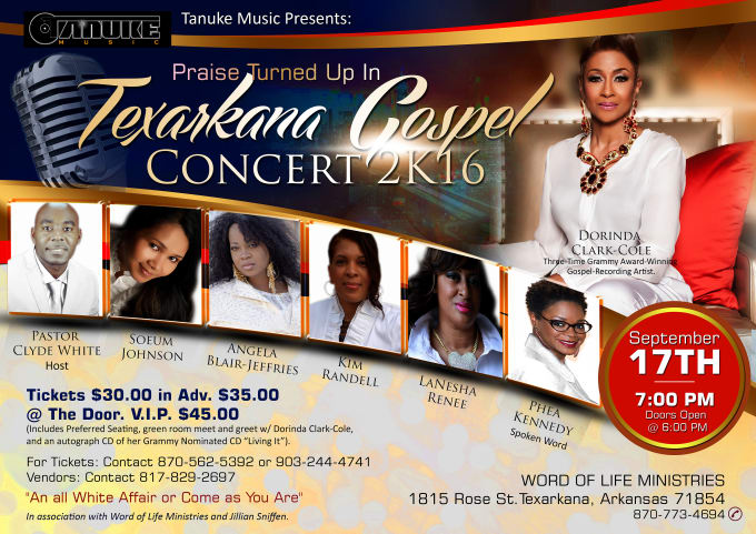 create OUTSTANDING flyer/poster for your business and church program