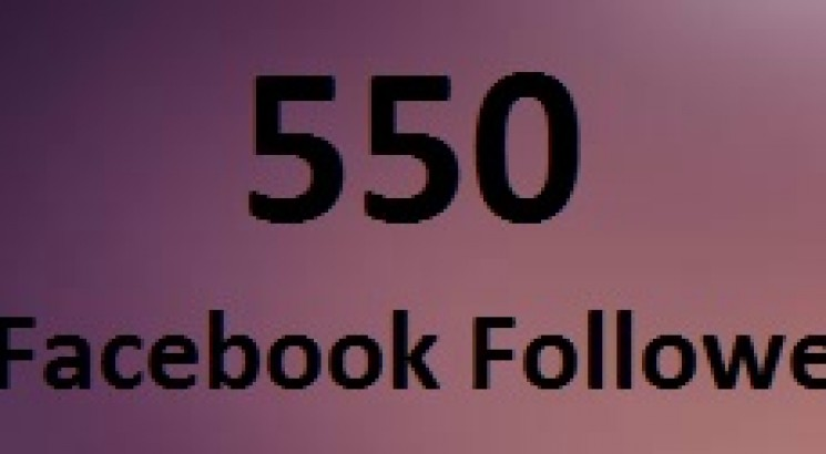 Give you 550 high quality facebook Followers