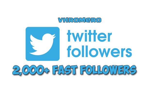 GIVE YOU 2,000 TWITTER FOLLOWERS (REFILL)