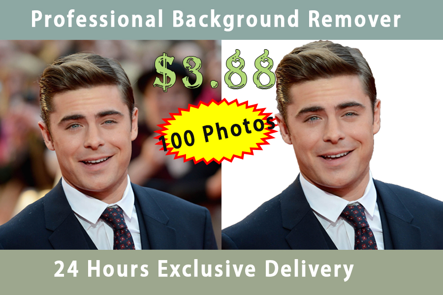 remove the background of 100 images within 24 hours