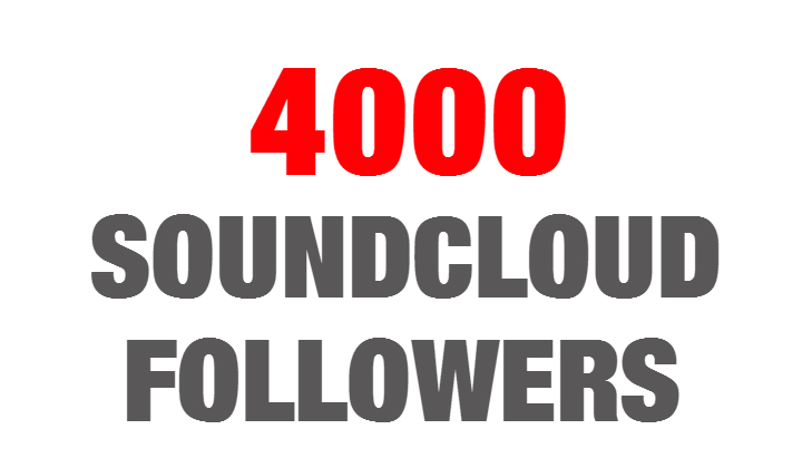 4000 Soundcloud Followers