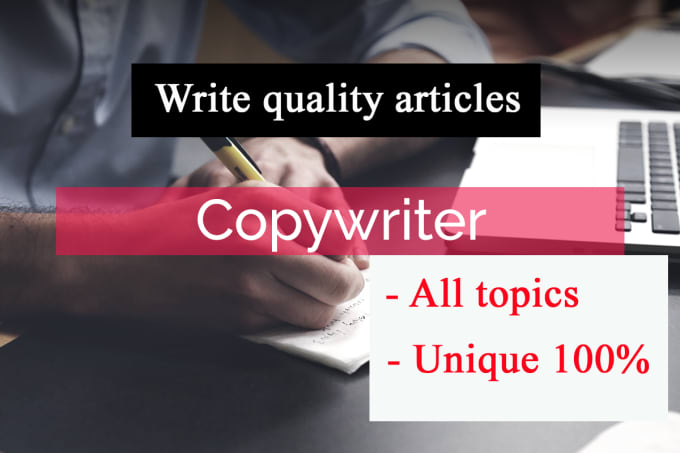 Write Quality Articles With Corresponding Subjects