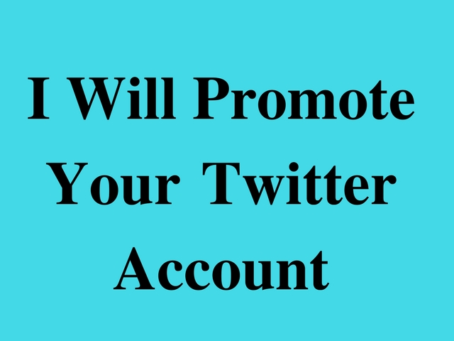 promote your Twitter Profile