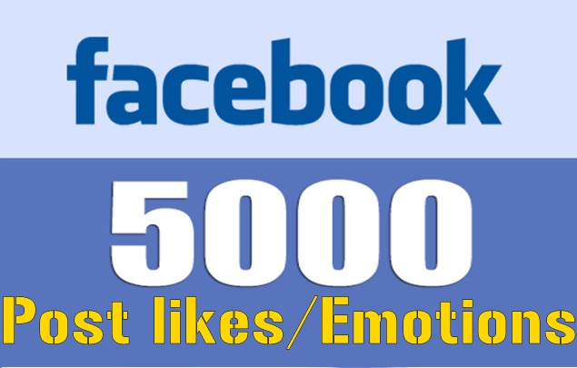 add 5000 fb post likes/emotions