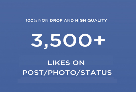 add 3500 facebook post/Photo/Status likes