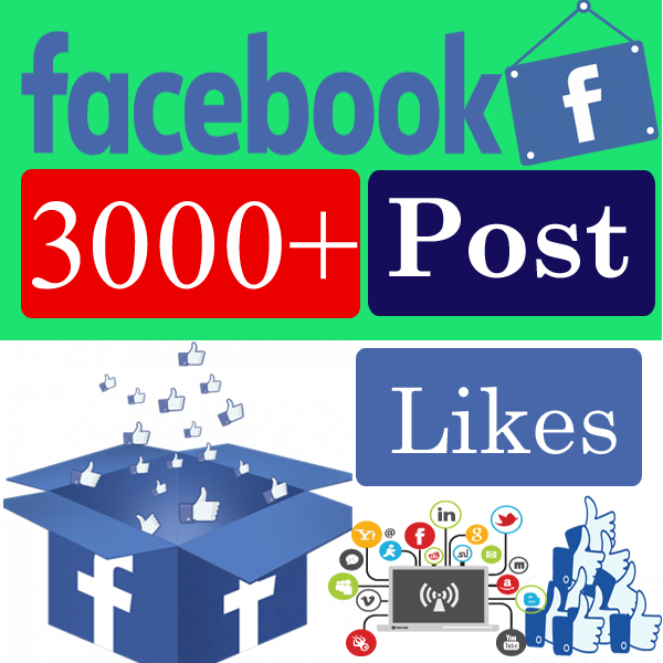 Give you 3000 facebook Post likes