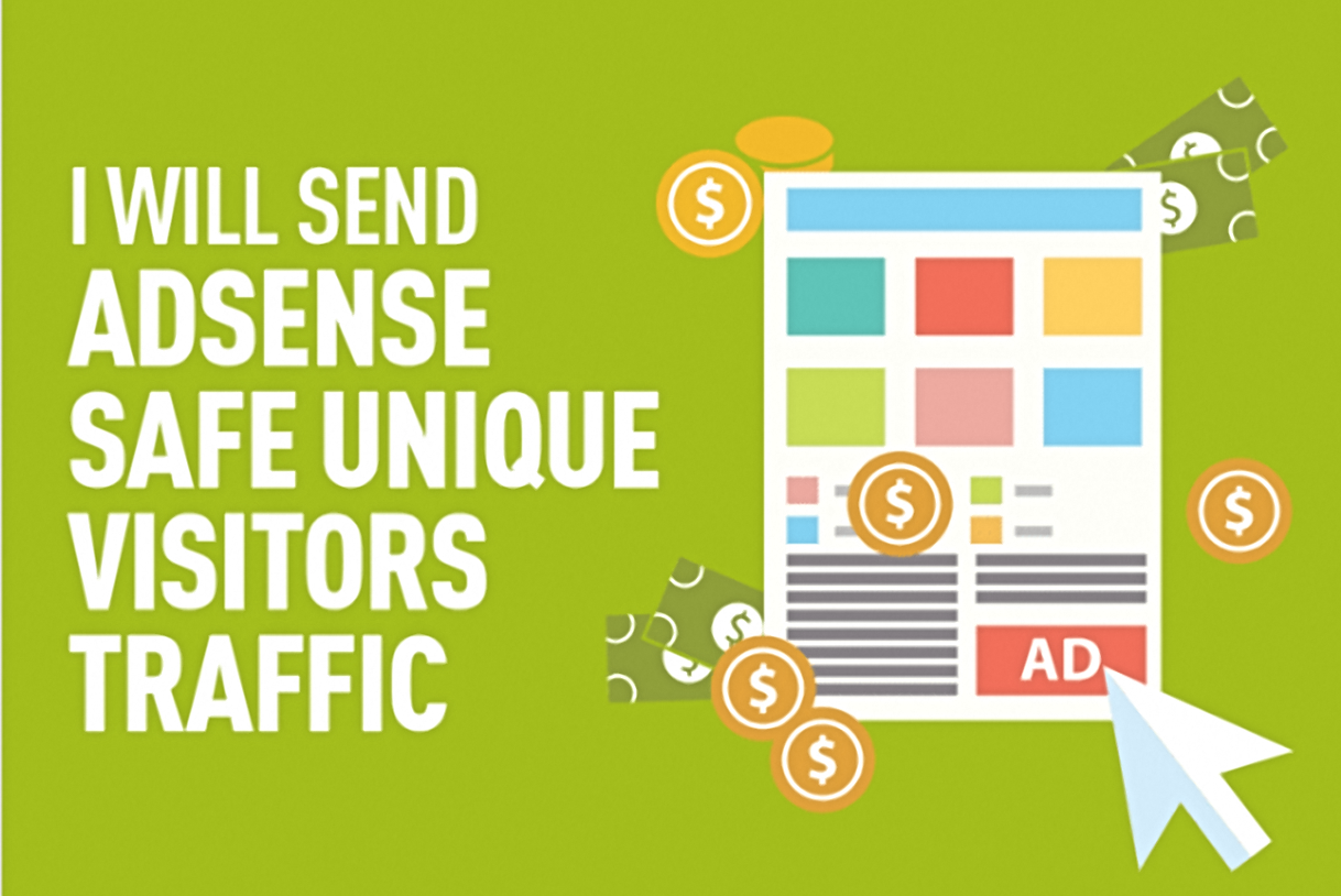 Send Adsense Safe Unique Visitors Traffic To Any Website URL