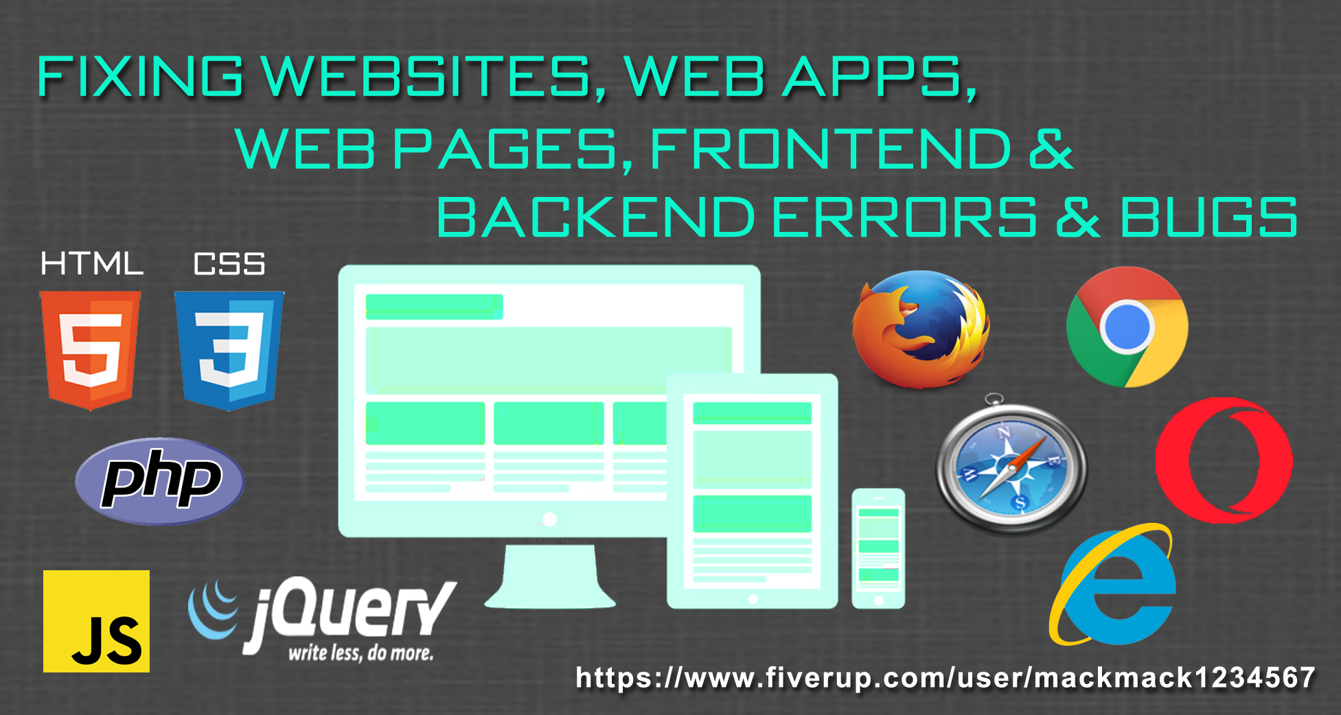fix errors or bugs to your website, web pages or backend code