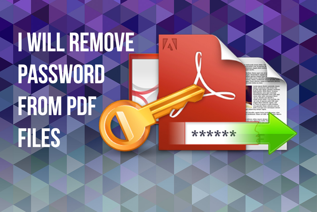 remove password from PDF files