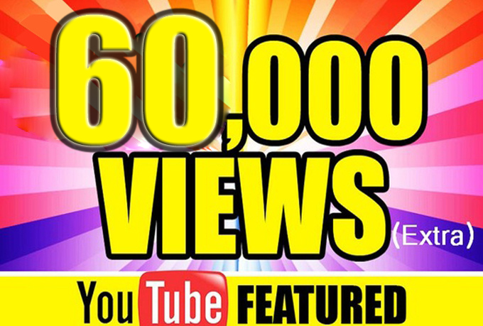 60,000 Nondrop High Quality youtube video views