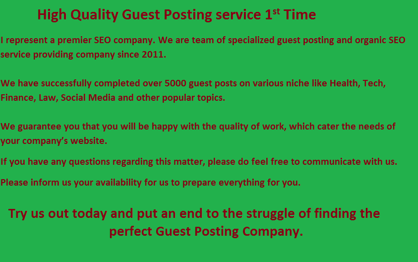 Guest Post On My Quality Blogs