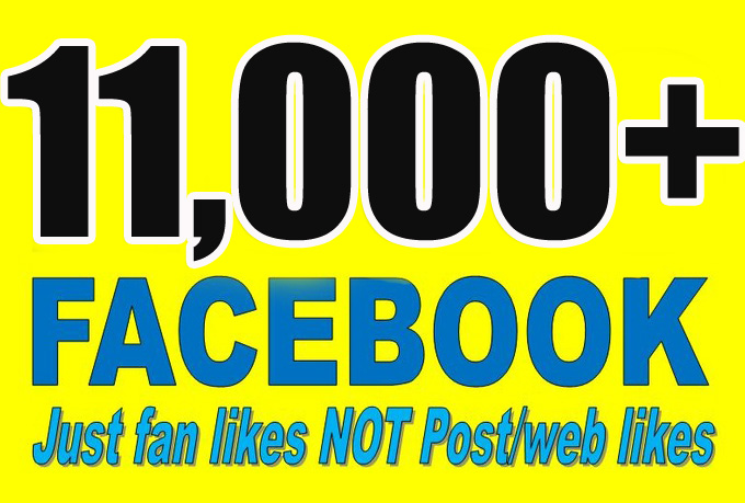 Gives you 11,000+Instantly started PERMANENT Active Facebook likes