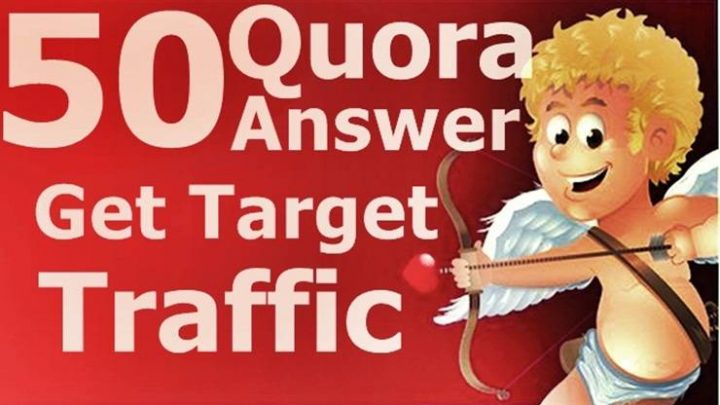 Get target traffic for your website with 50 quora answer baclinks