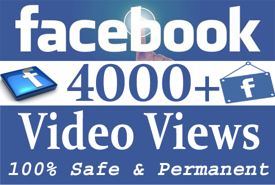 provide you 4000 Real facebook Video Views Or Post Likes