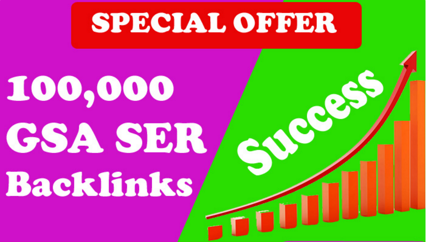 100,000 GSA SER SEO Backlinks