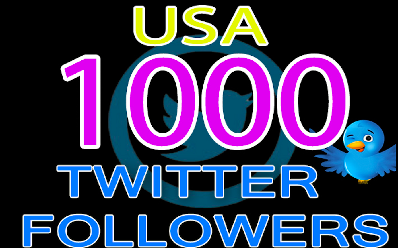 Give  You 1,000 USA TWITTER FOLLOWERS