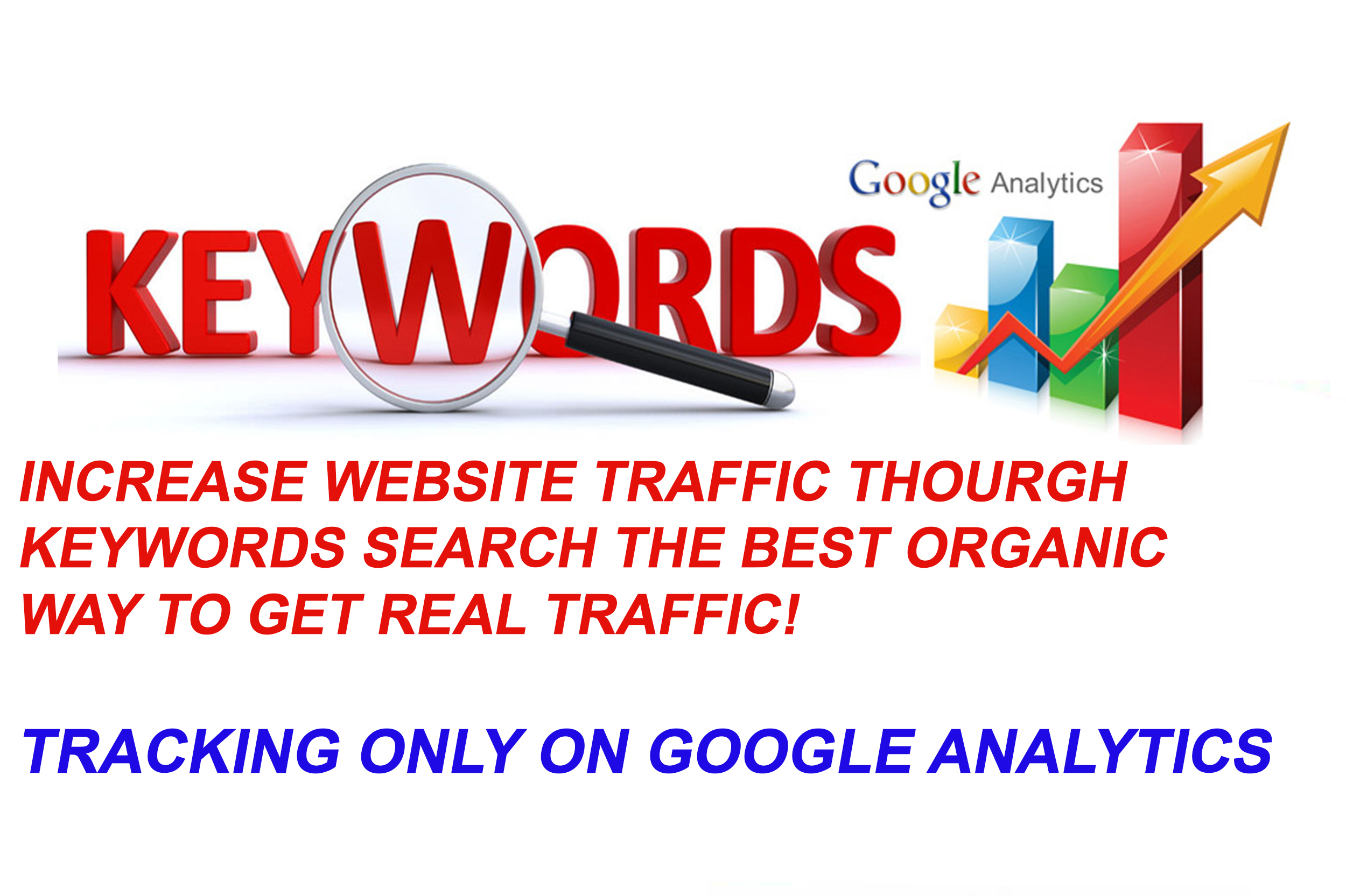 Give YouUnlimited KEYWORD TARGETED Google Organic Traffic with Low Bounce Rate