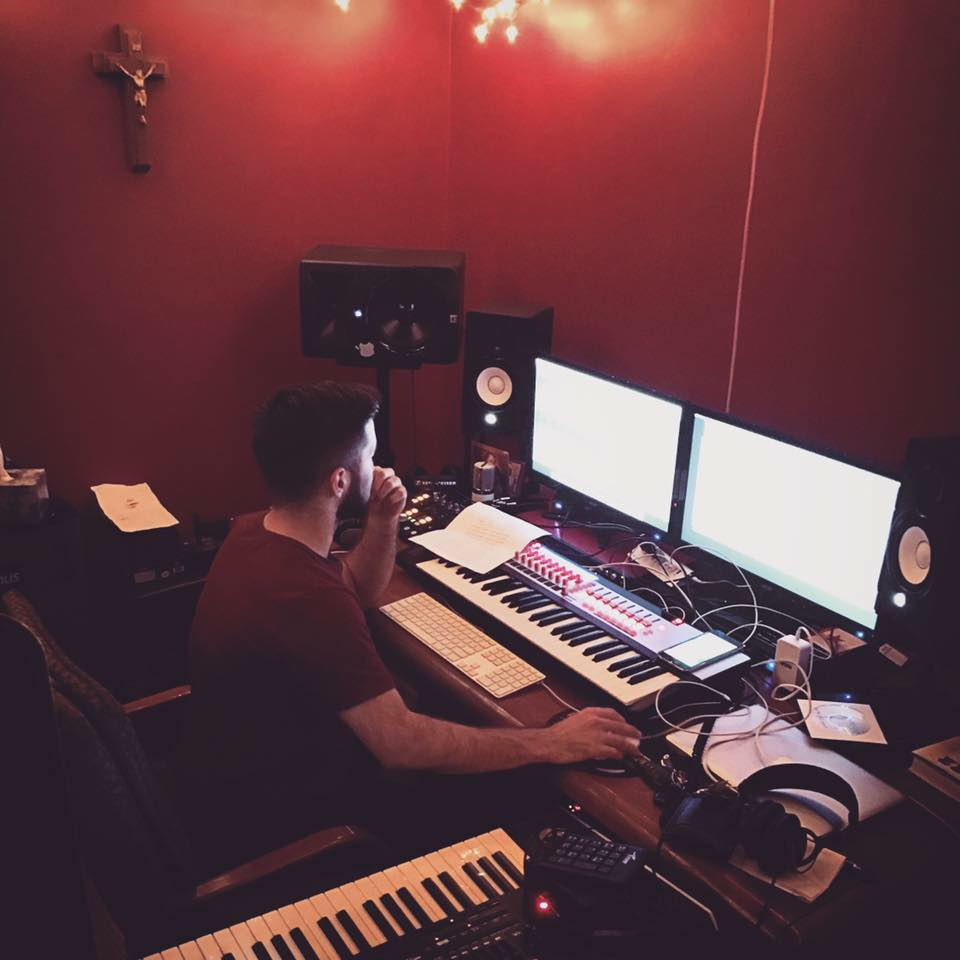 I will work on music in the studio hourly