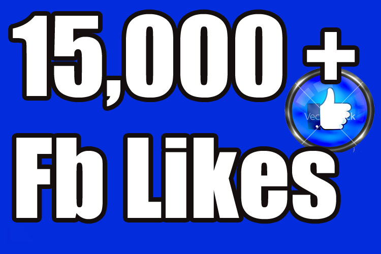 give you 15,000 facebook non drop (real) page likes