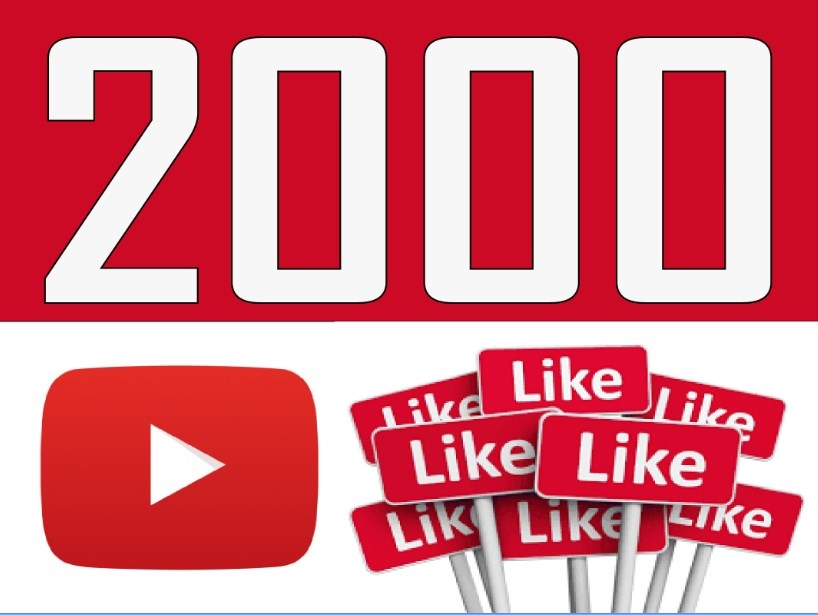 give 2000 youtube likes and 2000 youtube views