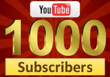 give 1000 youtube subscribers