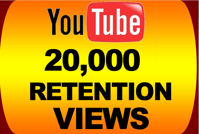 Send You 20,000 YOUTUBE VIEWS in less than 24 hours