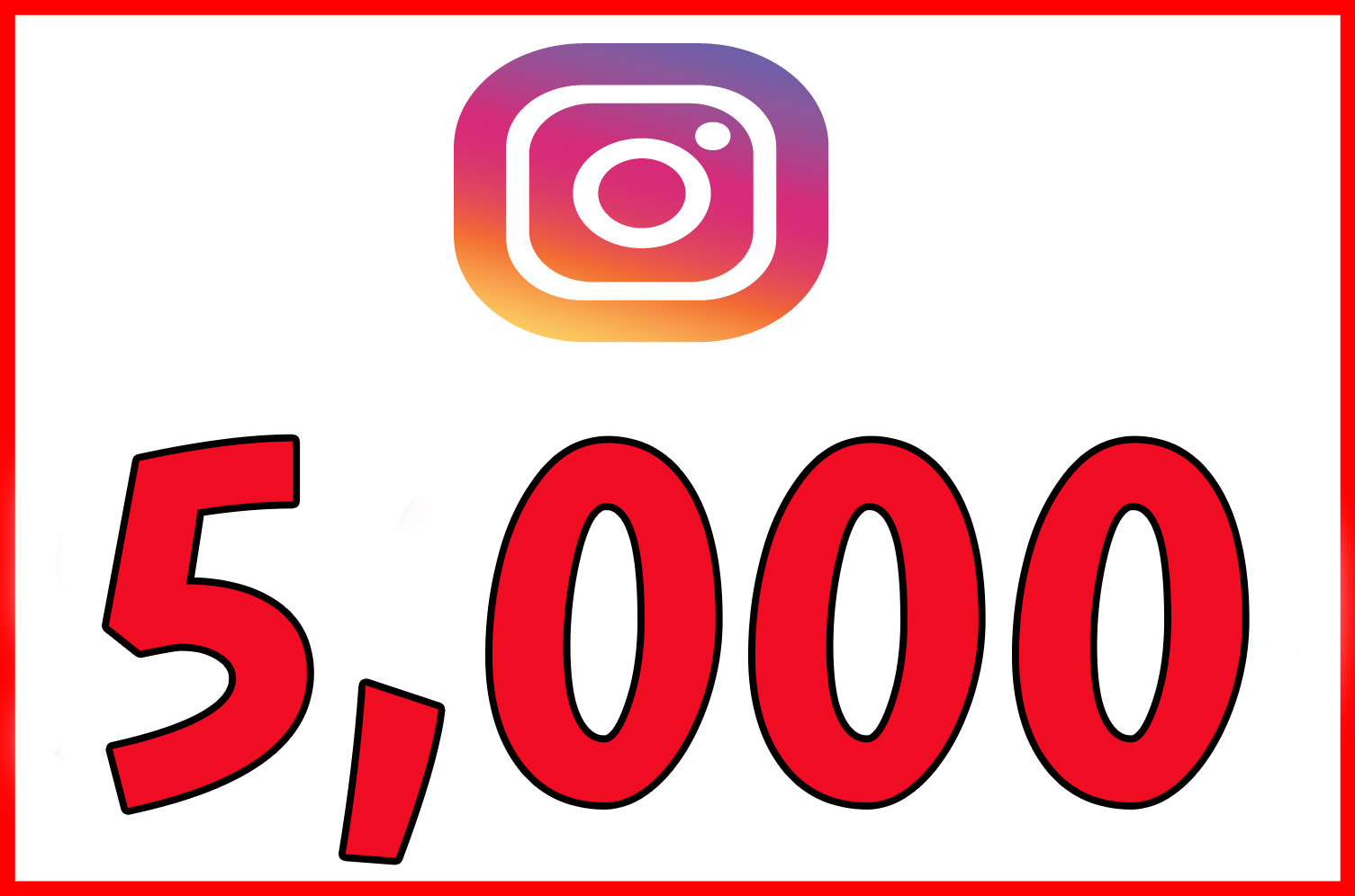 give you 5,000 Real and active instagram follwers
