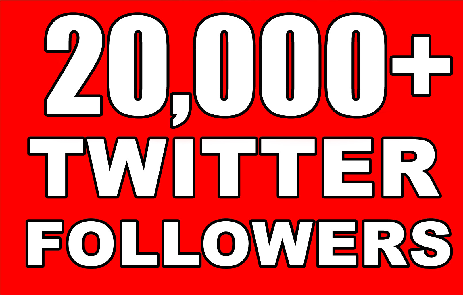 20,000 Nondrop Real Twitter followers for your twitter account