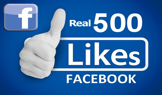 increase your Facebook likes by 500 real likes.