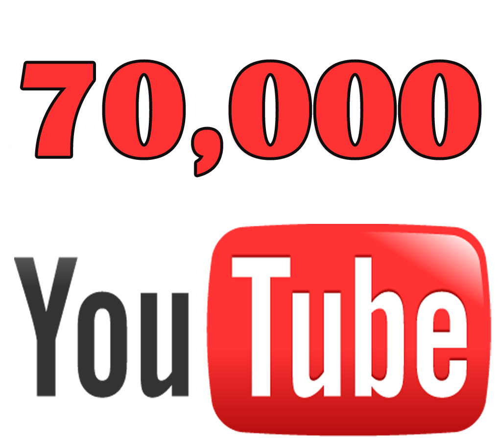 Add 70,000 real views on YouTube.