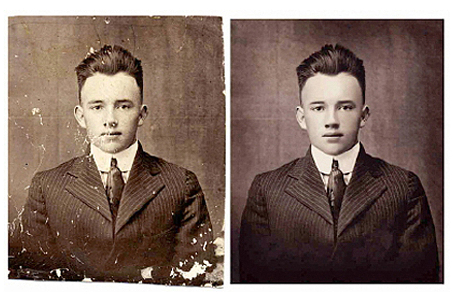 restore your old torn or damaged photo