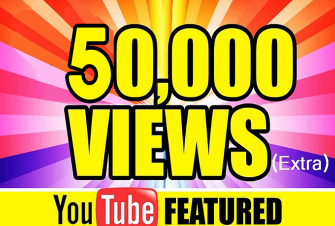 50,000+ Youtube Views High Retention Promotion Only