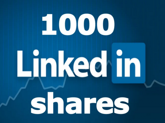give you 1000 Linkedin shares for your website blog or any URL