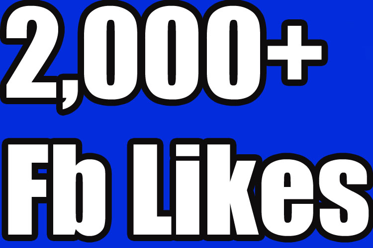 you 2,000 Facebook likes for your fanpage