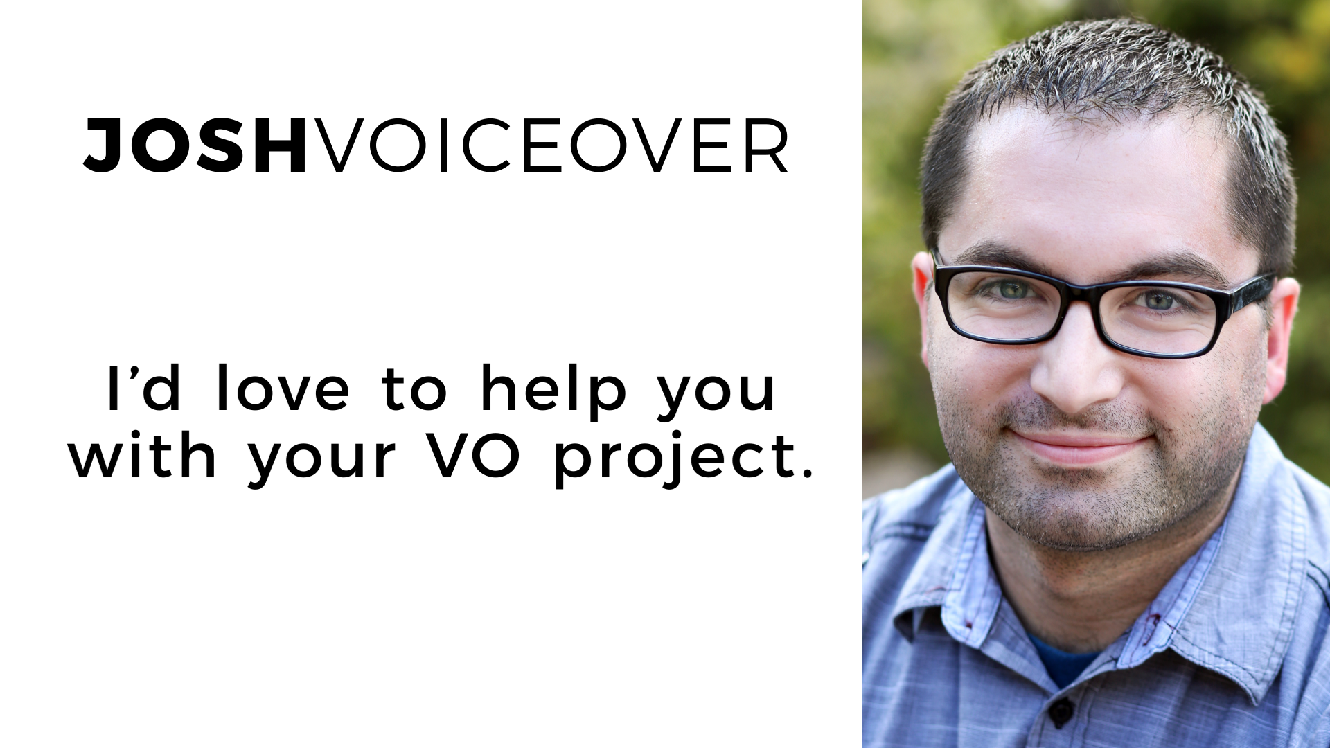 produce an excellent affordable voiceover
