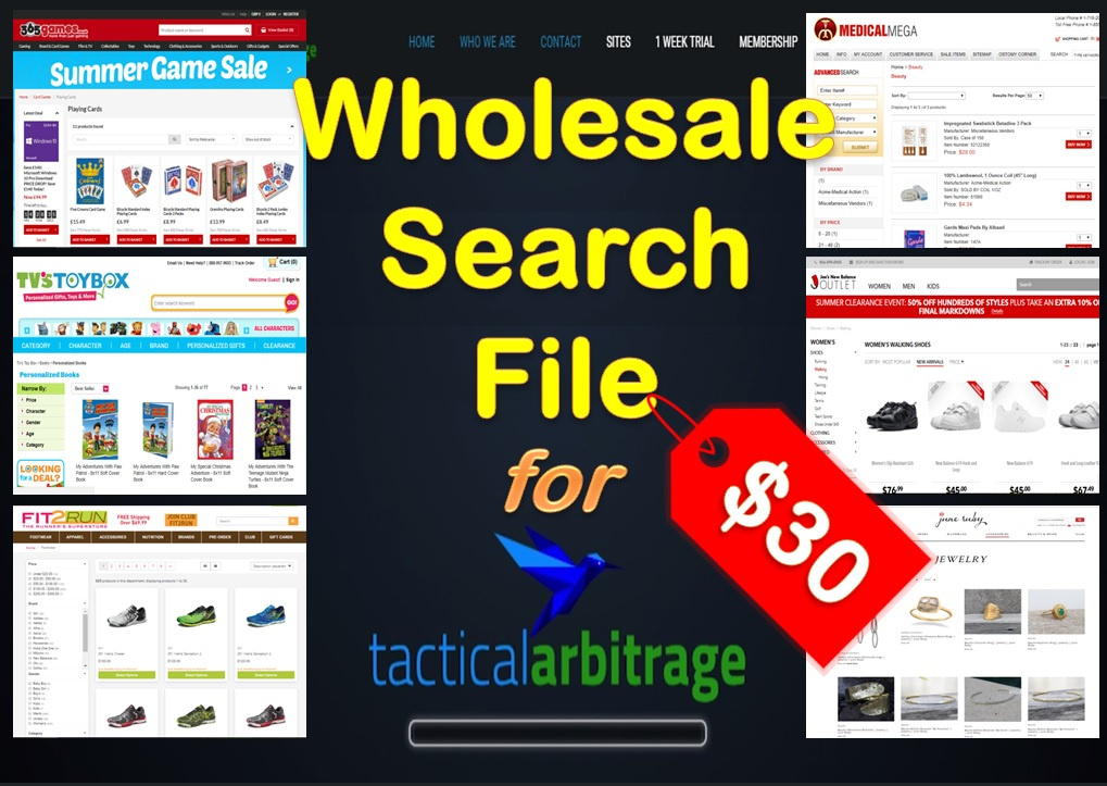Generate Wholesale Search File for Tactical Arbitrage