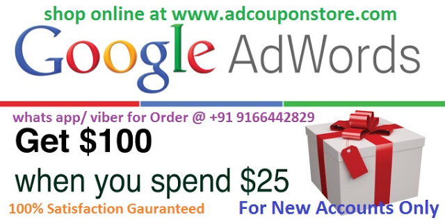 give you 100 USD google adwords coupon of USA