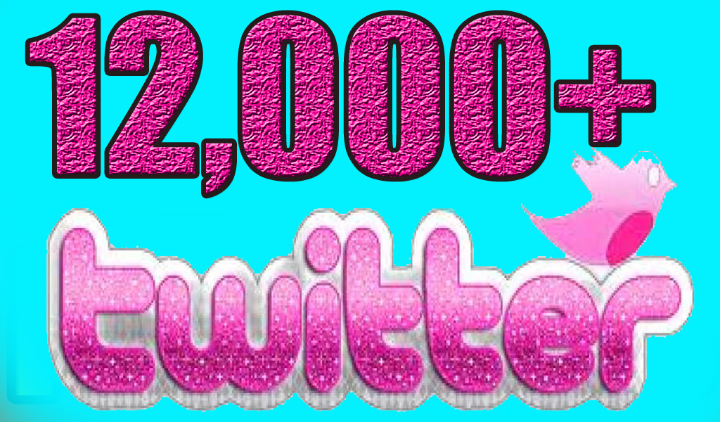 Instant Non-drop 1400+ Twitter retweets and 12,000+ Twitter followers