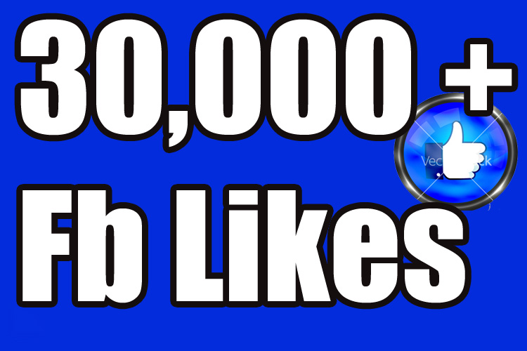 Provide 30,000 facebook fan page likes