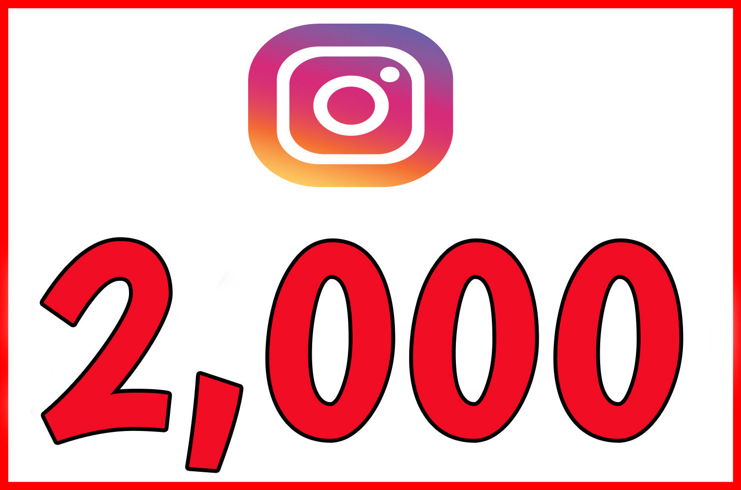 Instagram 2,000 Instant Fast Non Drop Followers