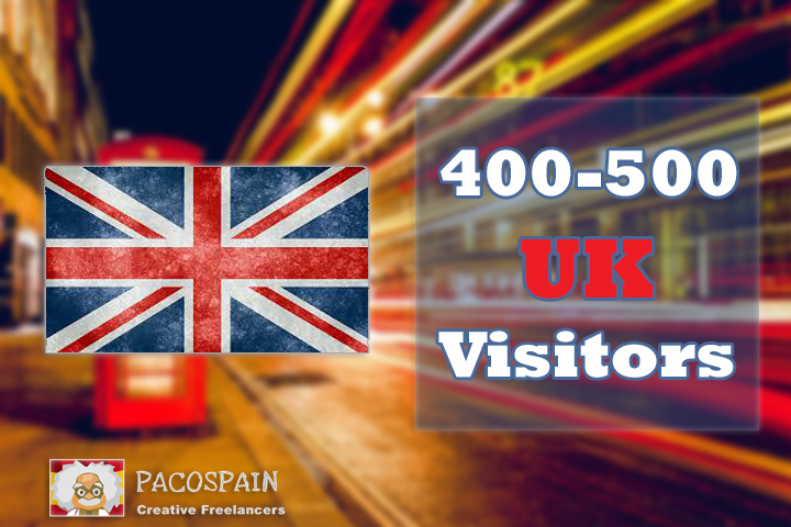 500 daily uk targeted traffic 5 keywords