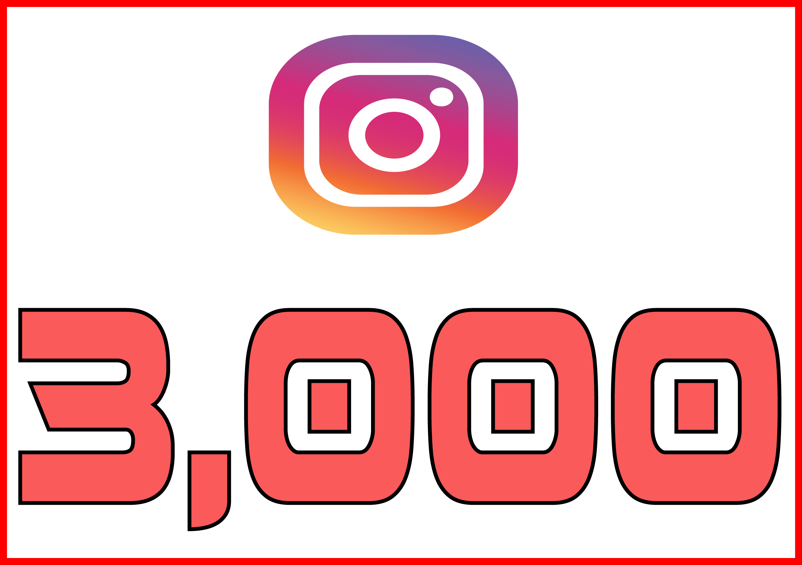 Instagram 3,000 Instant Fast Non Drop Followers