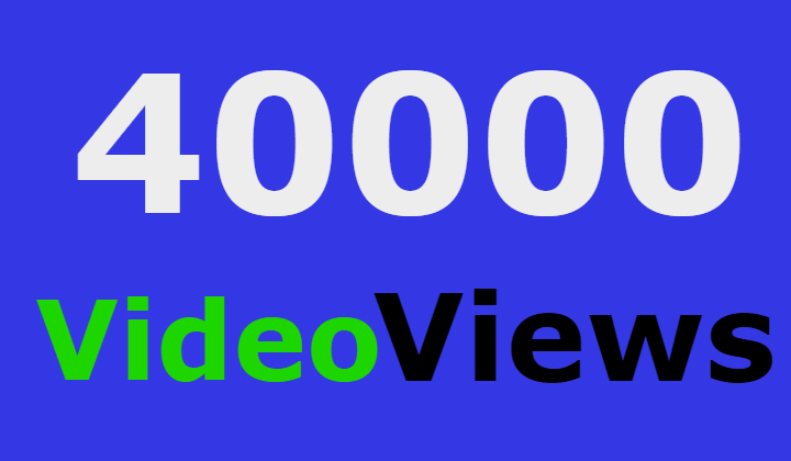 40000 facebook video views +2000 likes