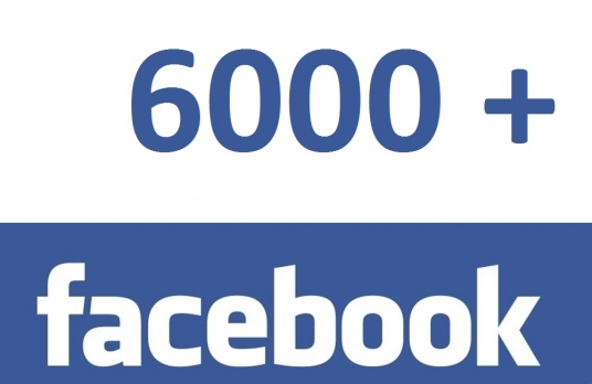 give 6000 facebook fan page likes permenant